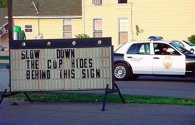 cop sign