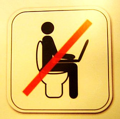 no laptop toilet