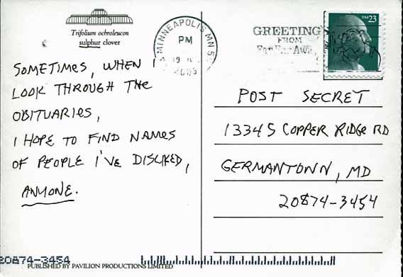 postsecret obitcard