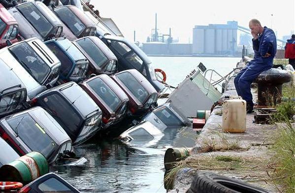sunk cars