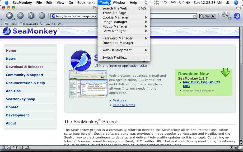 Gonna Miss NetScape?   Try SeaMonkey… A Really Nice All-In