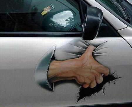 car hand