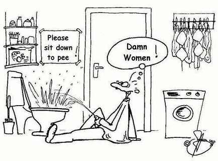 pee sitting