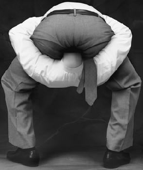 head in ass