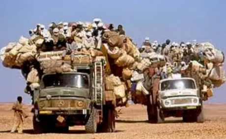 crowded trucks