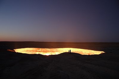 flaming crater