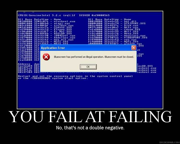 bluescreen failure
