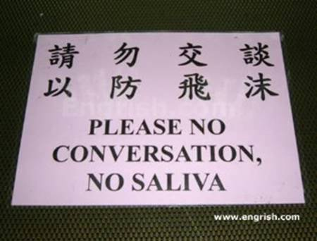 conversation saliva china