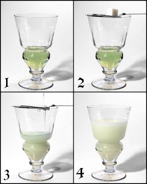 absinte preparing