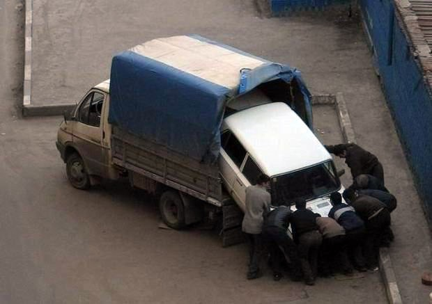russian tow truck