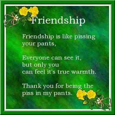 friendship piss