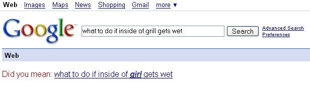 girl gets wet