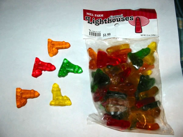 gummy lighthouses