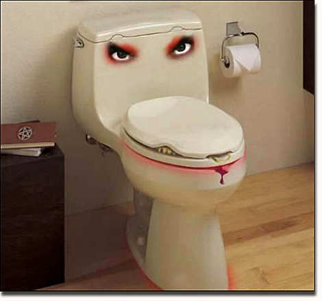 scary toilet
