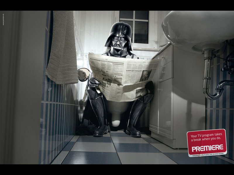 Vader pooping
