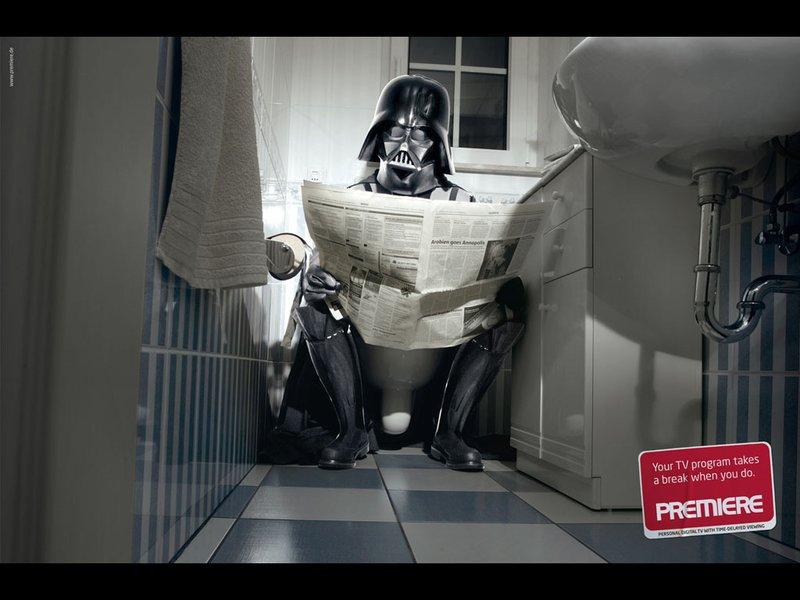 Vader pooping