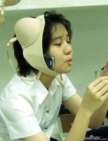 bra phone holder