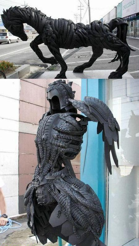 Tire Sculptures
