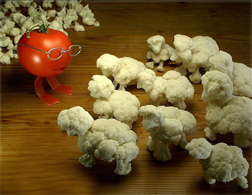 cauliflower art