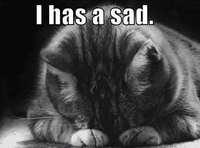 has a sad