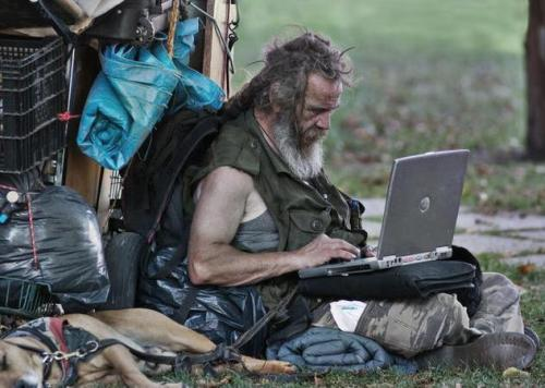 homeless internet