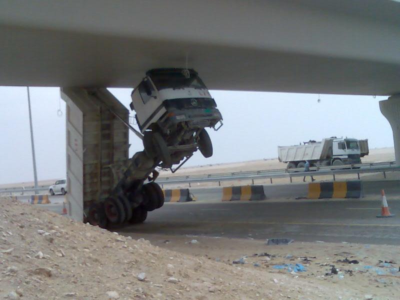 Dump Truck underpass