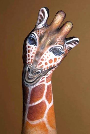 Giraffe Hand Paint