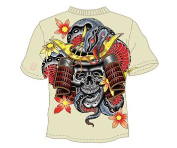 skull-samurai-snake-tee
