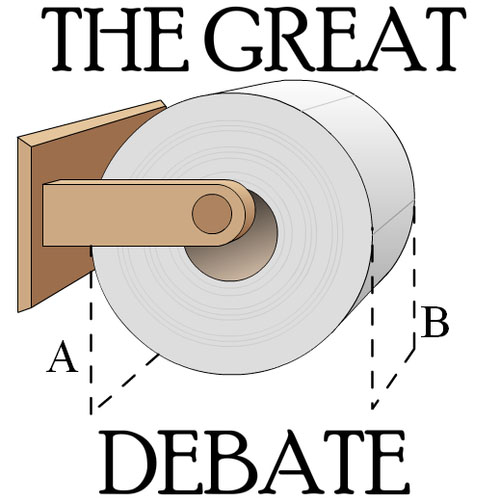 toilet papaer debate
