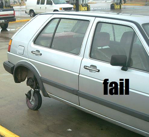 odd spare tire