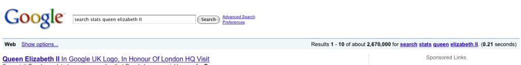 google resultsQEII