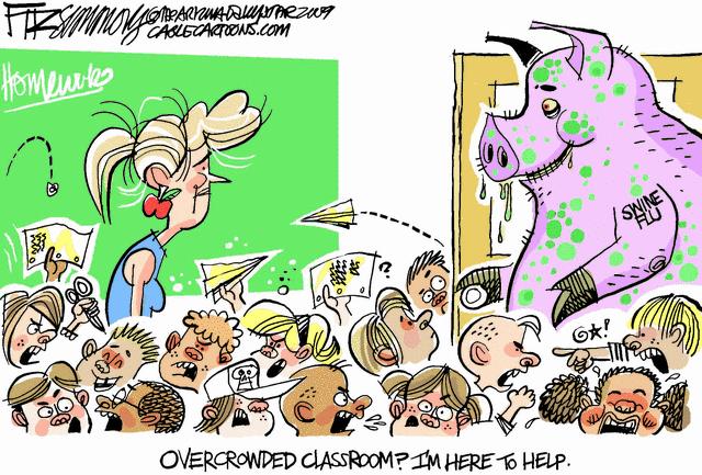 swine flu classroom