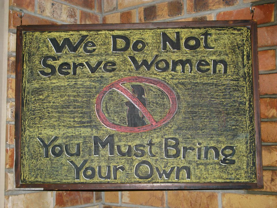 no women served
