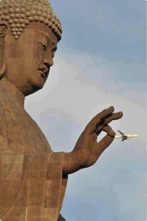 buddha plane pinch