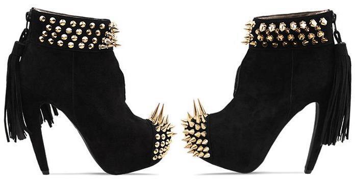 spikey boots