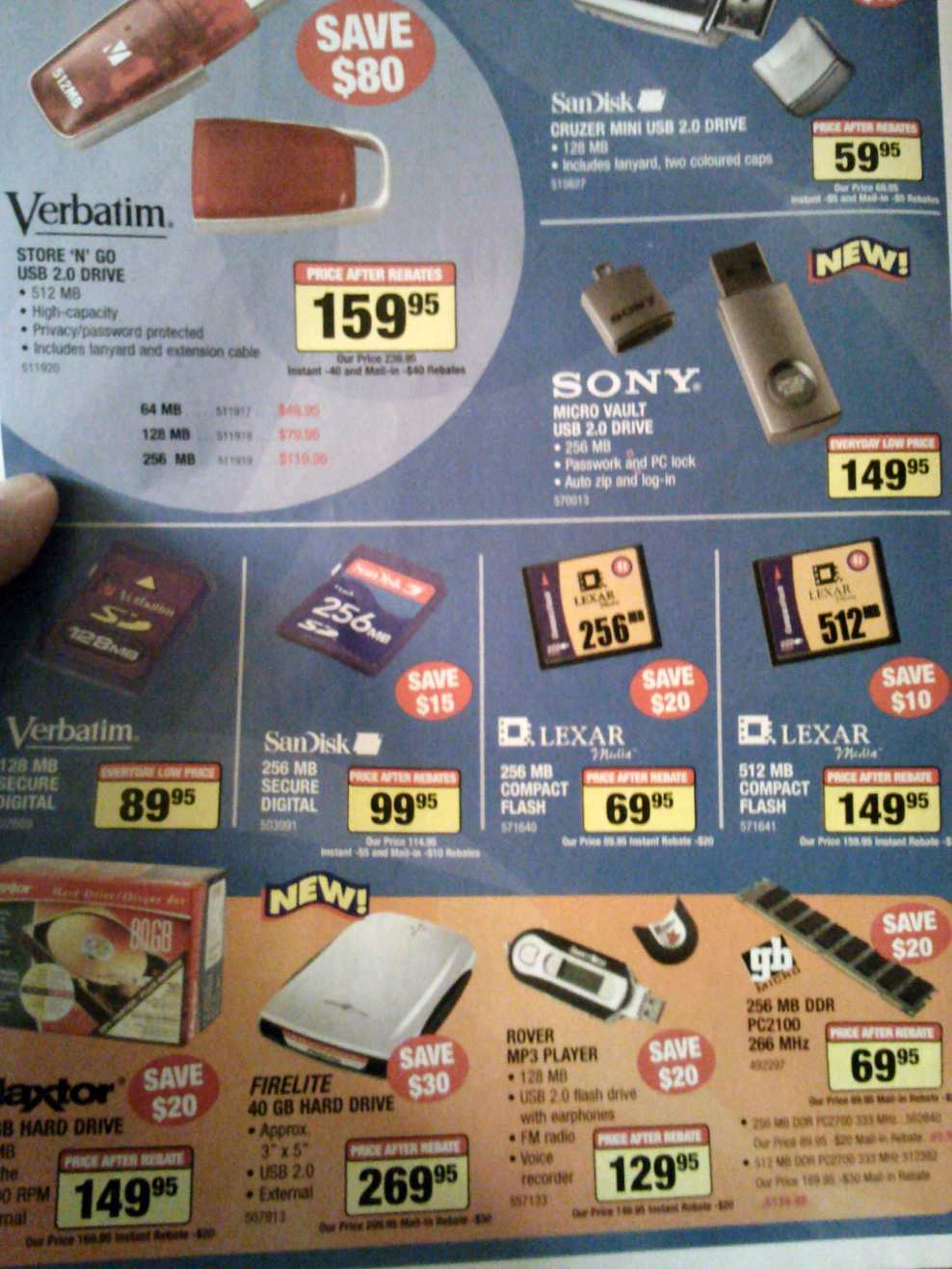 2004 USB prices