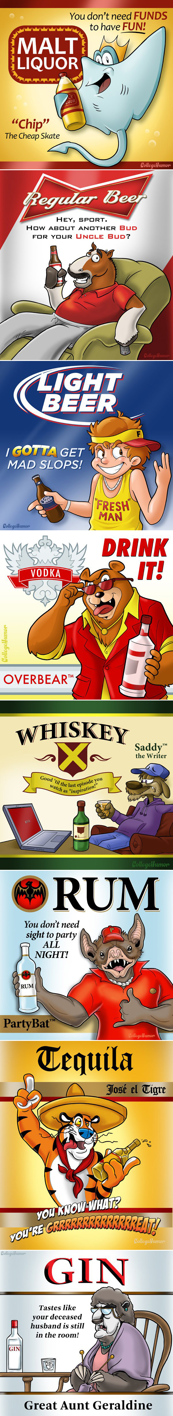 booze mascots