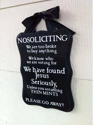 no soliciting unless