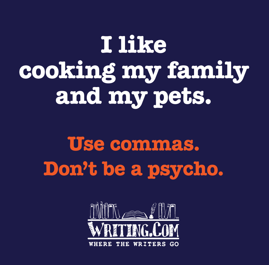 use commas dummy