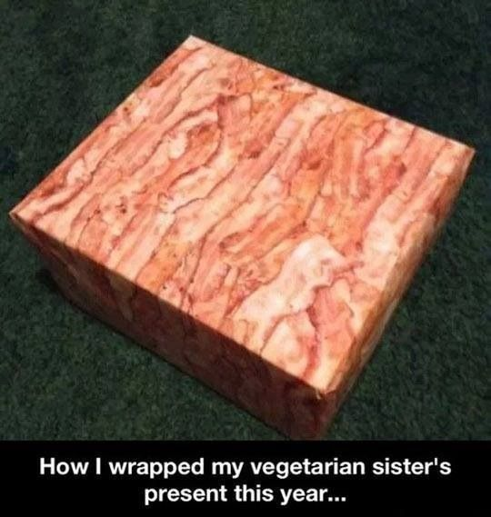 Bacon wrapped gift